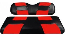 Recouvrement siège arrière rouge et noir